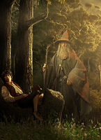 Frodo And Gandalf by Aste17