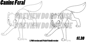 P2U - Canine Feral Base by EverDream-Adopts
