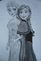 Anna and Elsa by shotokanjim