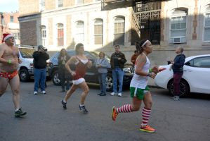2015 Santa Speedo Run, the Dashing Finish 14 by Miss-Tbones