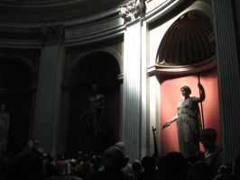 Statues in Vatican museums by JudytaDragon