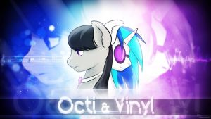 Wallpaper - Octi and Vinyl by romus91
