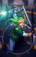 Link vs Phantom Gannon by Kyle-Fast