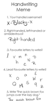 Handwriting Meme by Dycare