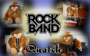 Quatch playing rockband by zethicus