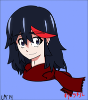 Ryuko with Scarf by SSB09