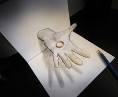 Hand And Ring 3D like 3D by Gmuhammad-al