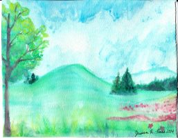 Watercolor Fields by Magicionary