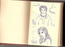 Random Sketches - Sticky Notes by jacquelynfisher