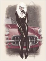 Black Cat Corvette by LorenzoDiMauro