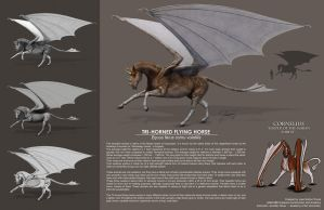 Tri-horned Flying Horse comp by EtherealProject