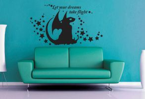 Let Your Dreams Take Flight Wall Decal by GeekeryMade