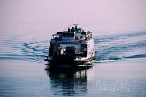 ferry on the lake by seasfairytale