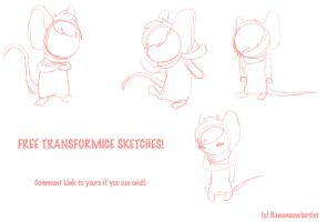 ::FREE:: Transformice Sketches by BananaOwlArtist