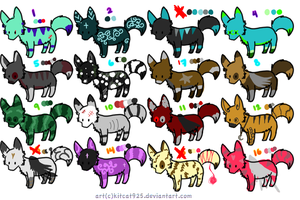 Adoptables 5 pts./ OPEN by Snowstorm-wolf