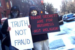 Anonymous Protesting Scientology by Hext