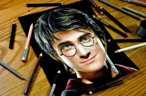 Drawing Harry Potter by Heatherrooney