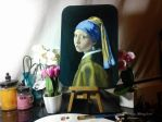 Study of Girl with a Pearl Earring by Vermeer by Veronica-Art