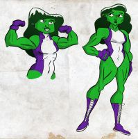 she-Hulk sketches by TheNoirGuy