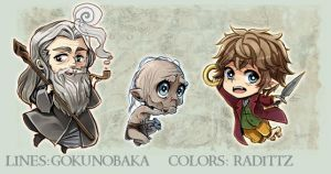 Hobbit Kawaii Keychains - PREORDERS OPEN by goku-no-baka