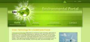 Shiny Green website header. by AlexandraF