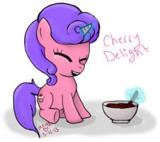 Cherry Delight MLP OC (not my OC) by Lunar-Jasmine