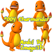 004 Charmander by imago3d