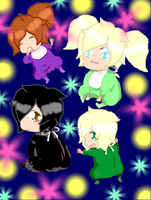 Baby Cole,Baby Chelsea,Baby Lloyd and Baby Makayla by MintyMagic74