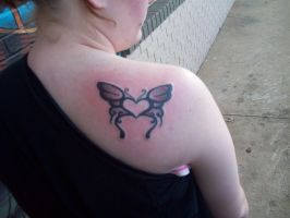 Butterfly Tattoo by DemonGirl2010