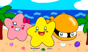 Starfy, Starly, and Moe by MarioSimpson1