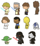 Lil' Star Wars by toadcroaker