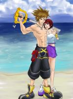 Commission: Buff Sora and Kairi by R-Legend