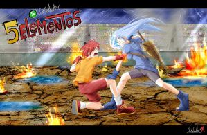 5 elementos kaji vs Lluvia by ShadowbugX