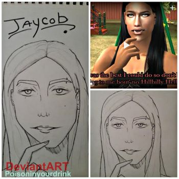 SIM DRAWING: Jaycob by poisoninyourdrink