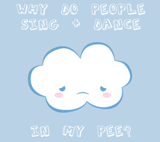 Cloud Pee T-Shirt Design by Kezzi-Rose