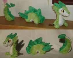 Desk Serpent ornamental plush by dot-DOLL