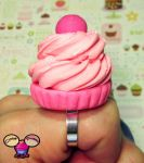 Huge Pink Cupcake Ring by pinknikki