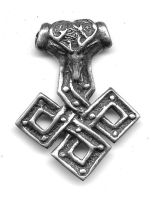 Stag Knot Thor's Hammer by dragonscalearts