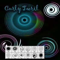 Curly Twirl Photoshop brush by designersbrush