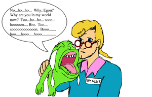 Slimer and Egon by Shizuru-Minamino