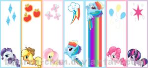 My Little Pony FiM Bookmarks by talaren-chan