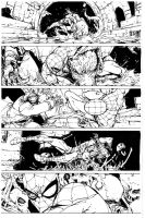 Spiderman p 2 pencils by Camuncoli, inks by Curiel by lobocomics