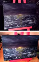 Seascape in oil by ChocoWay