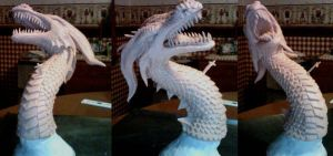 Dragon Sculpture - Unpainted by kelly-bot