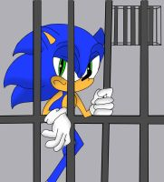 Sonic In Jail by MilkyWay-2-Mars