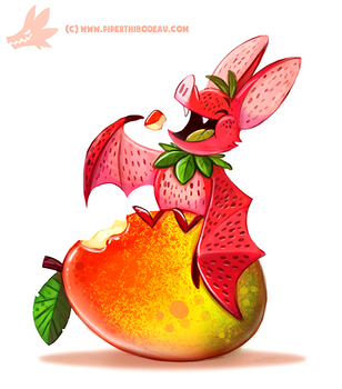 Daily Paint #1184. Fruit Bat by Cryptid-Creations