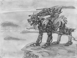 Energy Wolf - Lead Zoid Drawing by ShadoWolfozo