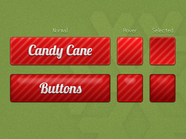 CandyCane Buttons by Ikue