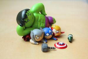 Avengers assemble! by lonelysouthpaw