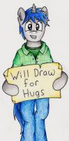 Will Draw for Hugs by ArtOfCanterlot
